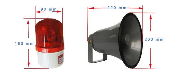 Bocina y estrobo luz led Telefono industrial JR101-FK-HB SIP