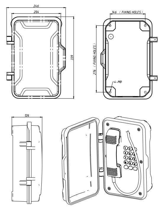 Dimensiones JR101-FK Drawing